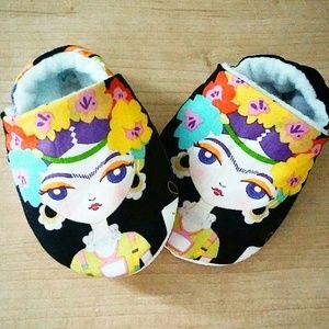 Newborn Baby Frida Kahlo Inspired Shoes